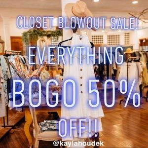 Tops - CLOSET BLOWOUT SALE! Everything BOGO 50% OFF!